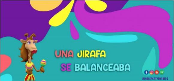 CACHITA LA JIRAFA INTERPRETA LA NUEVA CANCIÓN DE JUNGLE PARTY.